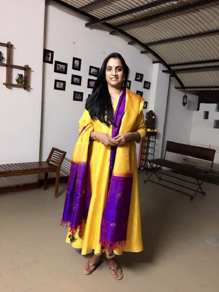 bb2679abee For instance, an Ikat anarkali is perfect to be worn at any time of the  day. An unused Kanchipuram silk saree can be transformed into a versatile  silk ...