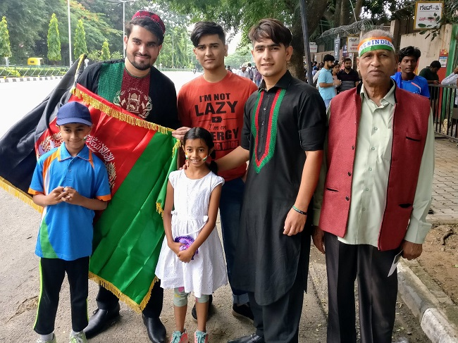 Image result for afghanistan india test match fans chinnaswami bengaluru
