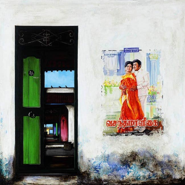 This Tamil Nadu artist turns drab doors into colourful and memorable ones    The News Minute