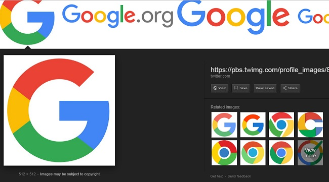 how to use the image search on google