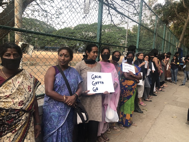 Bengaluru activists, citizens stage protest against clean chit to CJI Gogoi