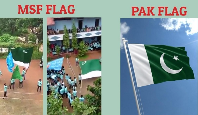 Kerala students wave MSF flag in college, reports wrongly