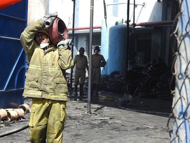 Fire erupts at tyre factory in Telangana