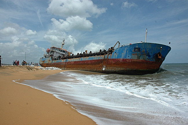 Dredger that washed ashore years ago in Kollam is finally