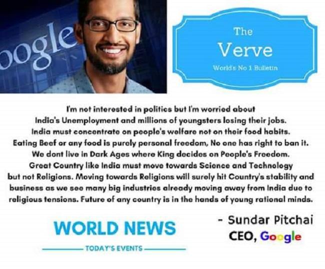 Sundar Pichai is the new bad meme: 'Quotes' that the Google