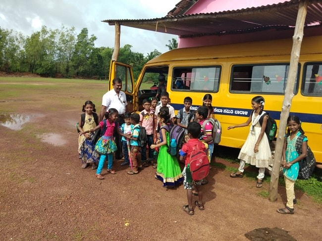 Udupi teacher buys bus, turns driver - all to ensure