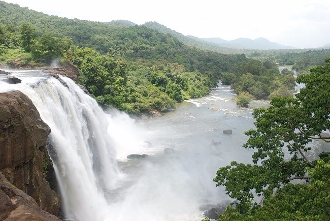 Image result for Athirapally Falls- Bahubali