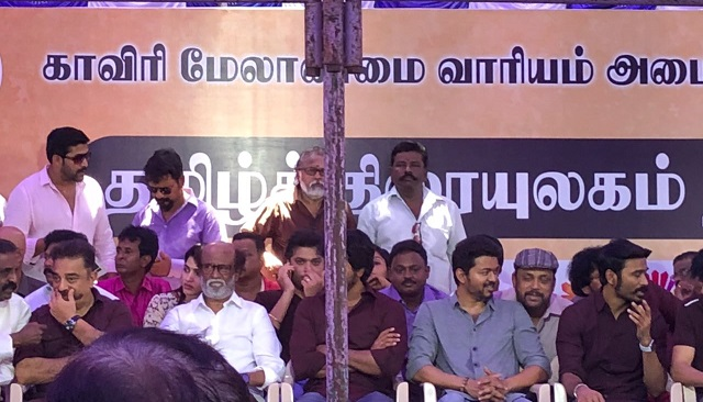 An useless protest by Tamil Actors not even lasting a day