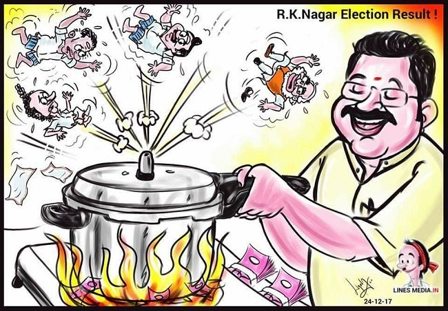 NOTA gets more votes than BJP candidate in RK Nagar