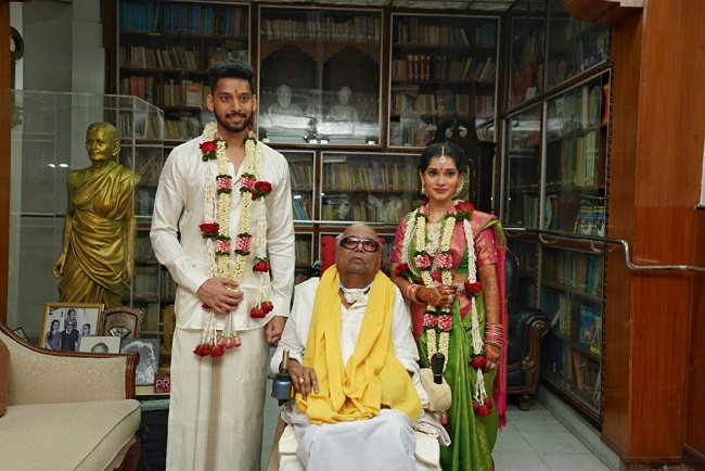 Tamil actor Vikram's daughter Akshita ties the knot. See pics