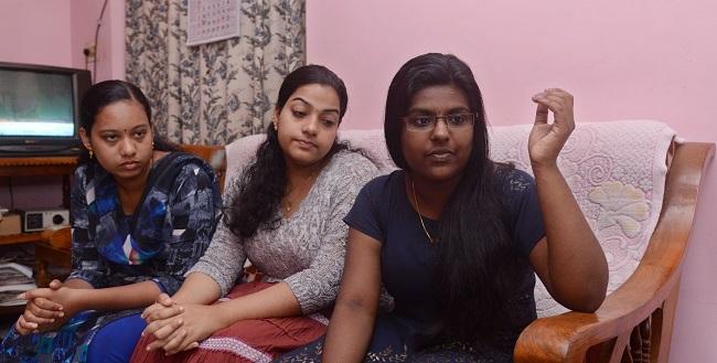 Parvathi, Vaishnavi and Aditya