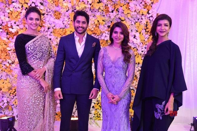 Naga Chaitanya Samantha Hold Star Studded Wedding Reception In