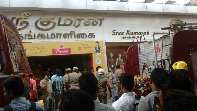 Fire breaks out at Chennai Silks