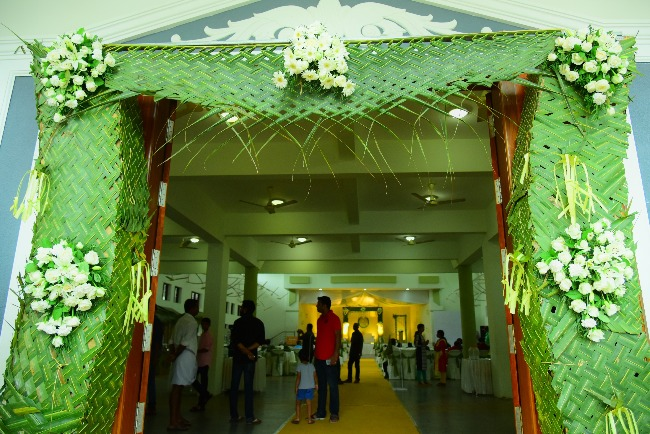 A green wedding meet the kerala event management company thats further it isnt only weddings from where coconut based decorations have disappeared previously for political meetings or any other public events junglespirit Gallery