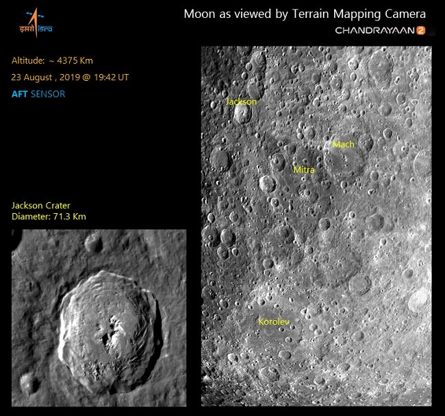 ISRO releases latest photos of Moon craters