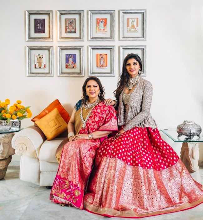 Miheeka Bajaj with her mother Bunty