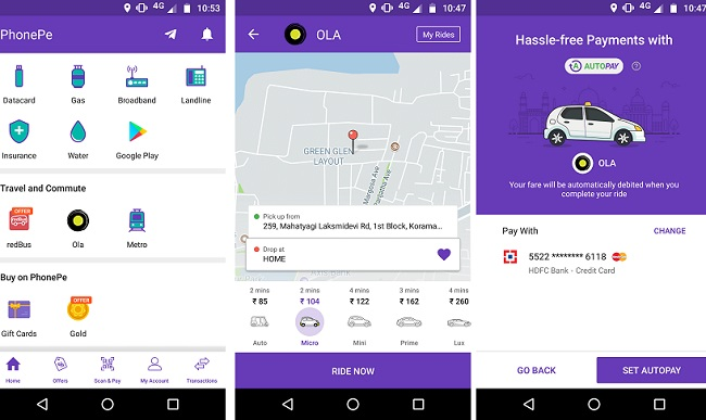 Image result for Ola partners with PhonePe to launch AutoPay feature