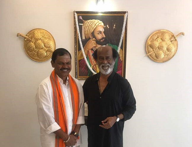 Rajinikanth gives one more hint on entering politics, meets farmers