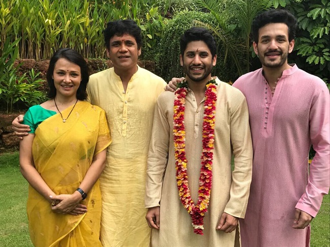 Superstar Venkatesh Daggubatti Who Is In Goa For The Wedding Wrote That He Was Happy To See How Boy Knew Naga Chaitanya Had Grown Into A Young