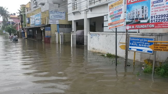 Heavy rain batters Chennai: schools, colleges shut