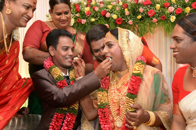 Trans couple gets married in Kerala: Moments from Ishan and