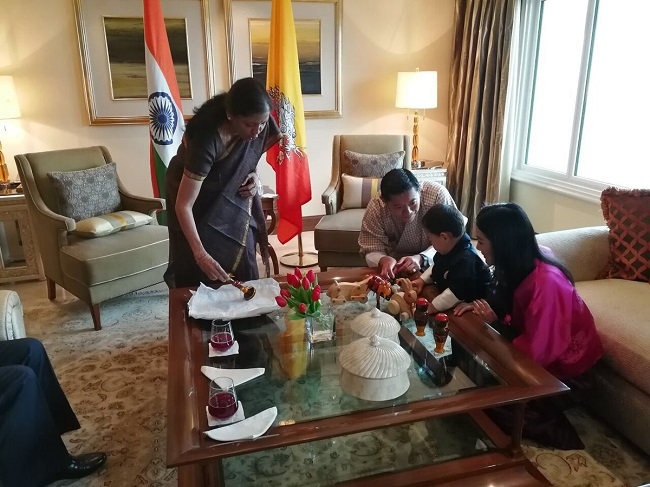 Bhutan S Little Prince Gets To Play With Channapatna Toys And He S