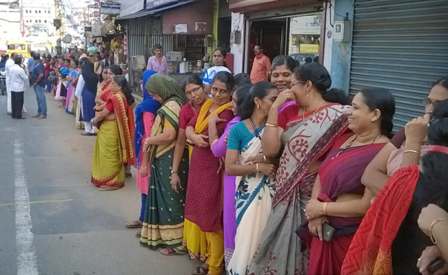 Violent street protests after women defy ban to enter temple