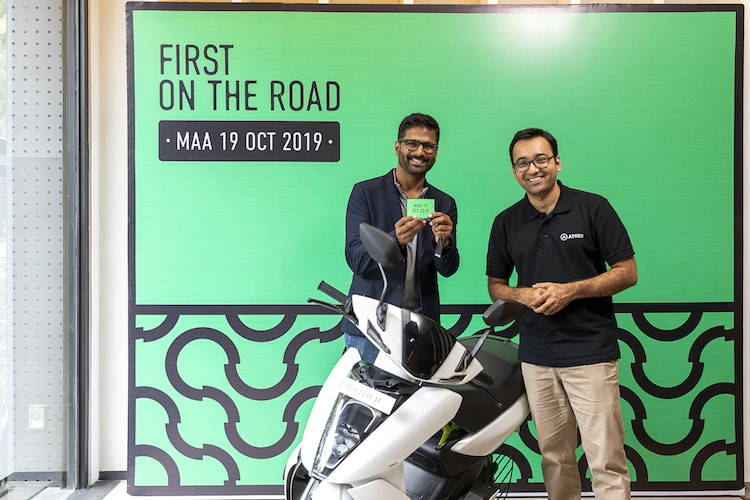 First on the road: Deliveries for the Ather 450 begin in Chennai