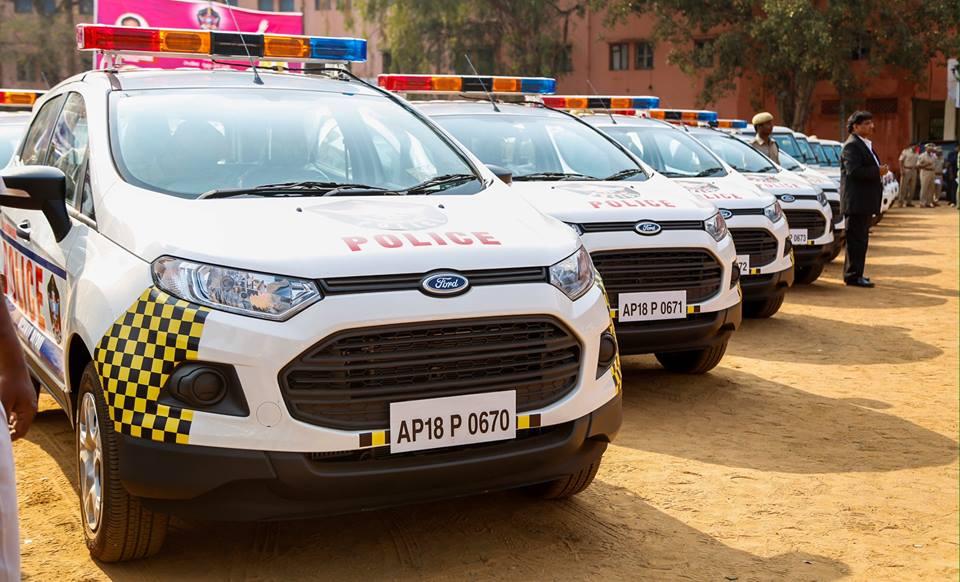 Ap Police Gets New Fleet Naidu Flags Off 2 387 Vehicles