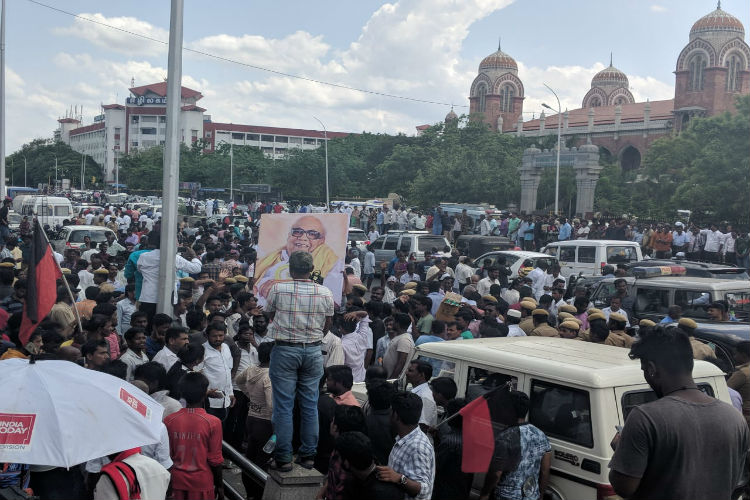 Karunanidhi's funeral: Procession to start at 4 pm, DMK HQ gives the route