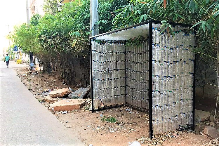 Hyderabad Gets Its First Recycled Bus Stop Made Out Of