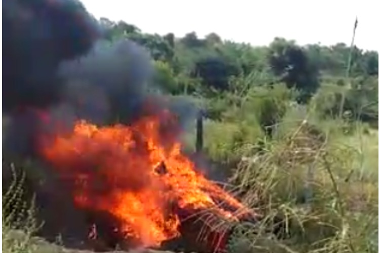 Five of a family killed after car overturns, catches fire on Bengaluru-Tirupati highway
