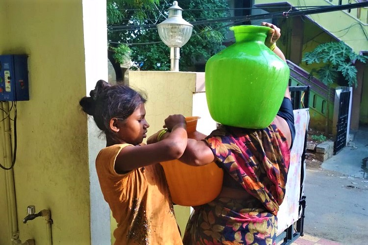 Water access is a gruelling game for Hyderabad's slum dwellers