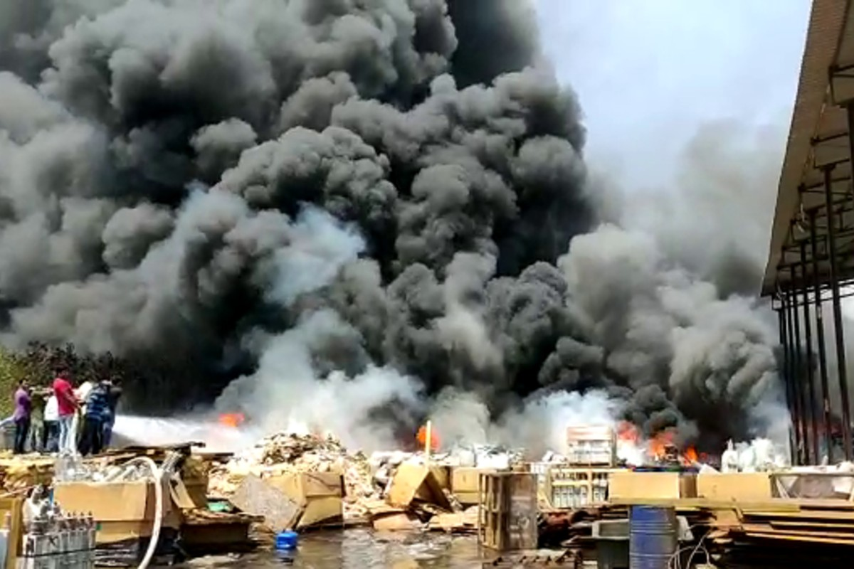 Fire breaks out at scrapyard in Andhra SEZ near Vizag