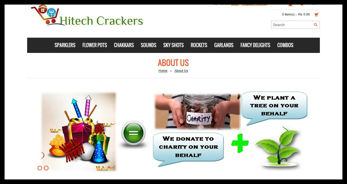 Hitech Crackers website Look and feel