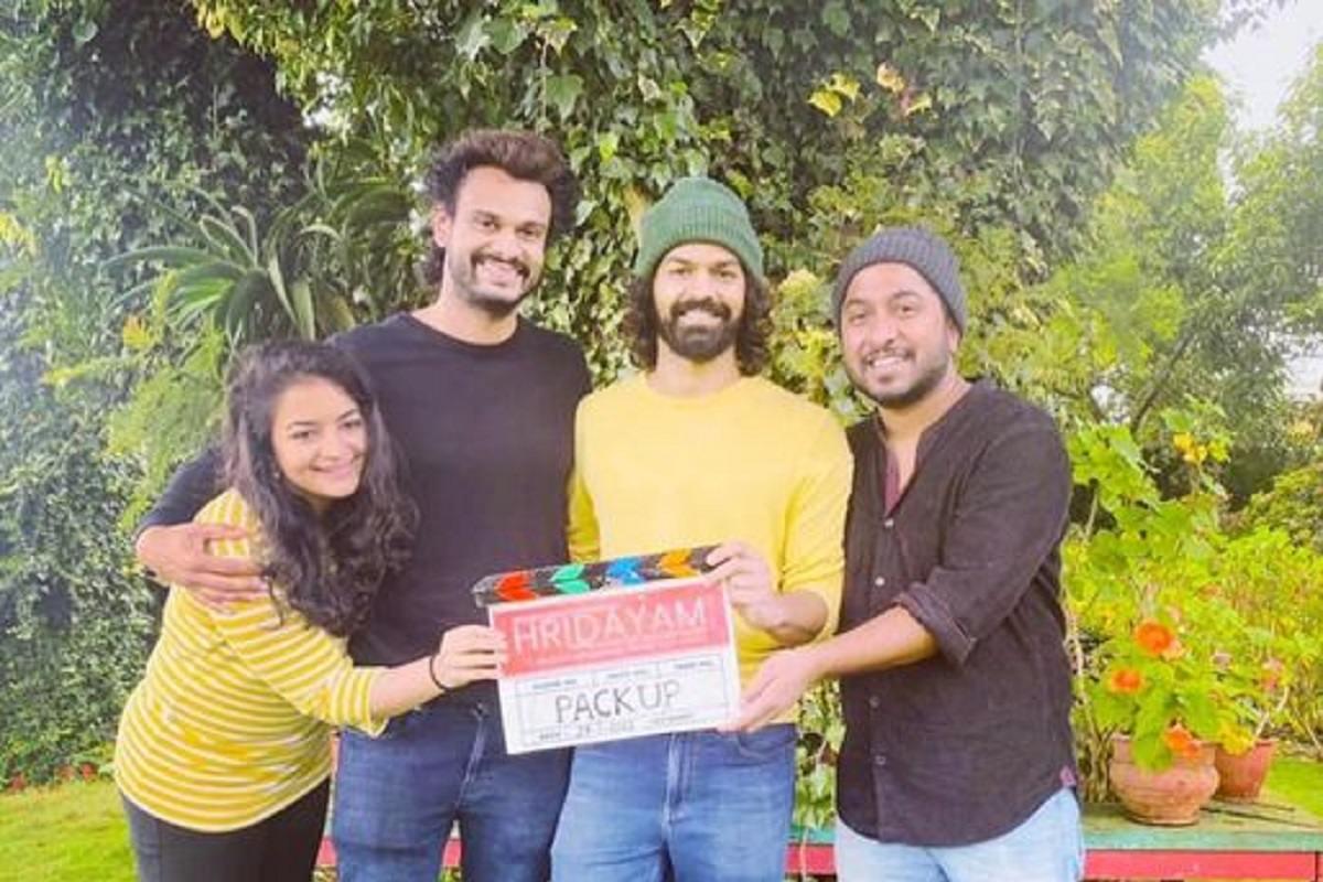It is pack-up for Hridayam starring Darshana Kalyani and Pranav Mohanlal