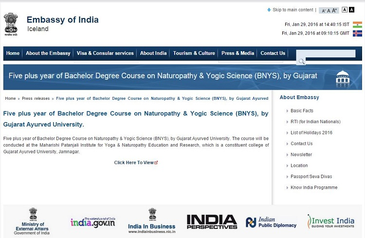 Why Are Some Indian Embassies Aggressively Promoting A Yogic Science