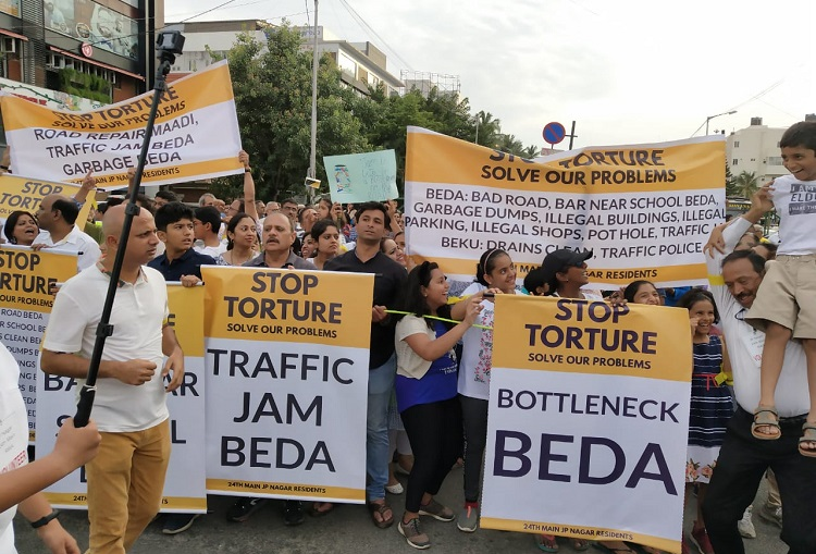 Bengaluru's JP Nagar residents hold 'peace walk' over encroachments