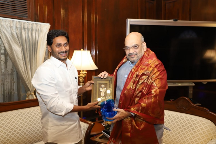 Andhra CM Jagan Mohan Reddy meets Amit Shah, seeks funds from Centre