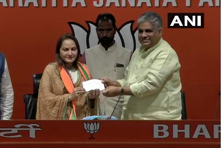 Former Samajwadi Party member Jaya Prada joins BJP