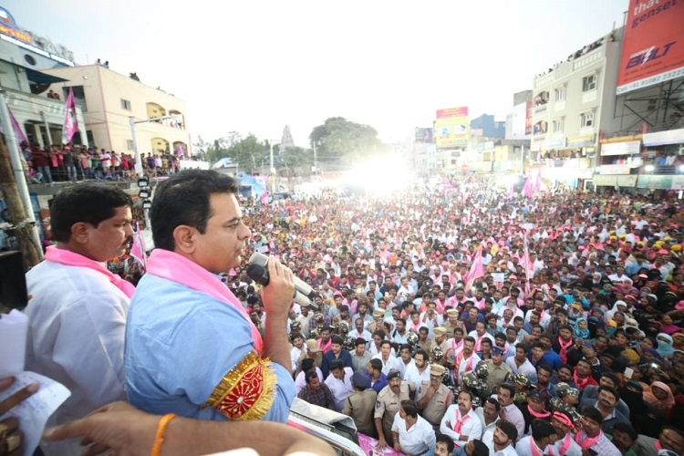 Naidu gave losing ticket to NTR's granddaughter: KTR holds meet at Kukatpally