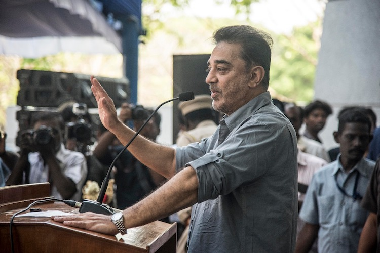 Stones, eggs thrown at Kamal Haasan during election rally in TN