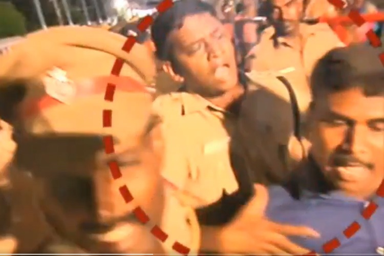 TN Athi Varadhar fest: Video of cops attacking journalist goes viral, sparks row