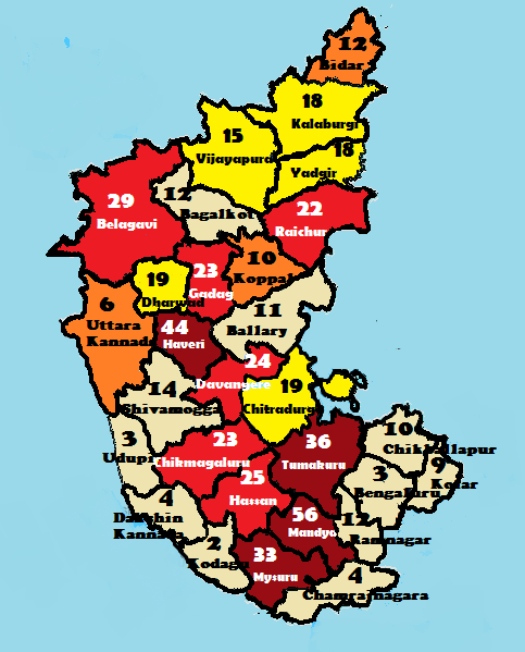 A map that shows a farmer has committed in every ... Map Of Karnataka State on map of delhi, map of rajasthan, map of haryana, map of bangalore, map of kashmir, map of mysore, map of yunnan province, map of hubei province, map of gujarat, map of andhra pradesh, map of orissa, map of nunatsiavut, map of mumbai, map of uttar pradesh, map of maharashtra, map of arunachal pradesh, map of india, map of west bengal, map of kerala, map of madhya pradesh,