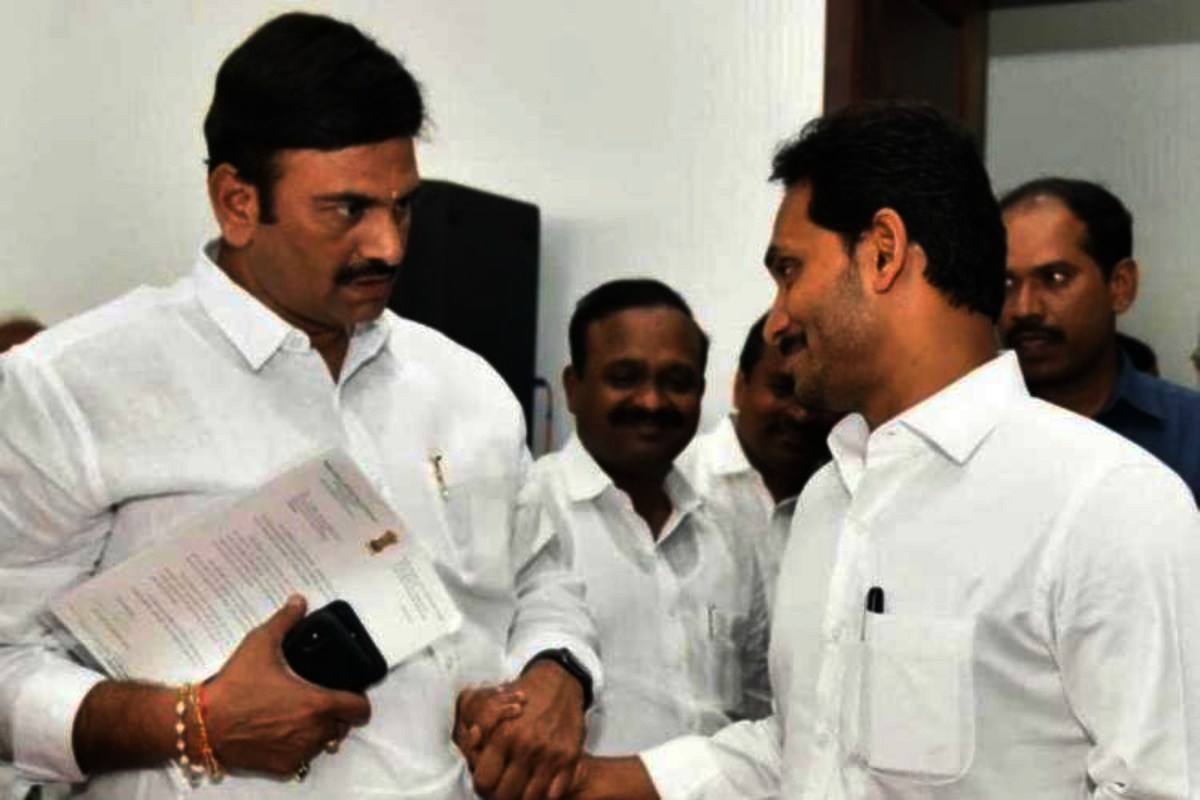Jagan is facing opposition from one of his own MP Raghu Rama Krishnam Raju