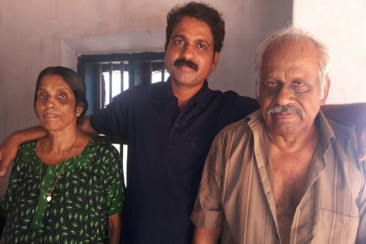 Thanks to a court summons elderly kerala parents get for K muraleedharan family photo