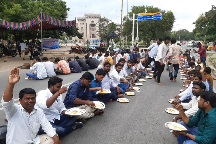 Once with KCR, striking RTC staff take on protests reminiscent of Telangana movement