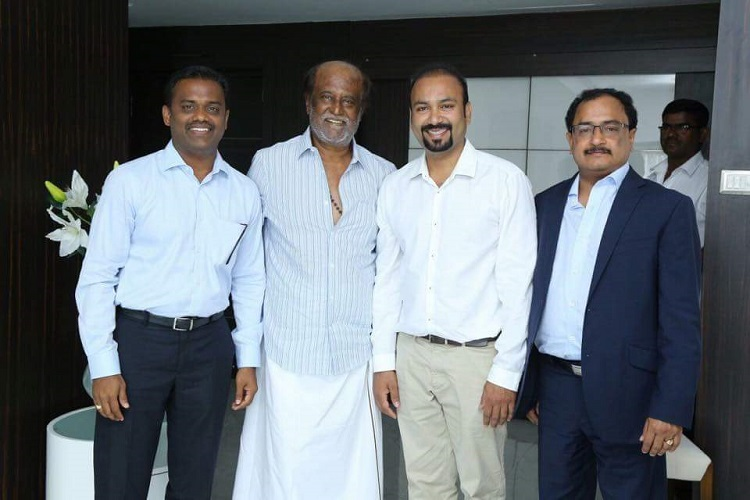 with superstar rajinikanth back on his feet  shooting on