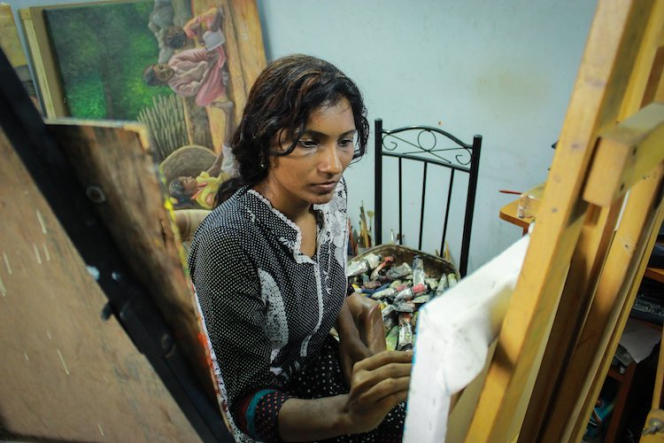 Abused for painting nudes, Chennai-based artist firm on continuing her art