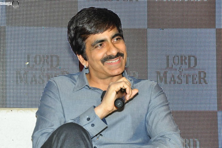 busy with �aaa� promotions ravi teja�s scifi film logo